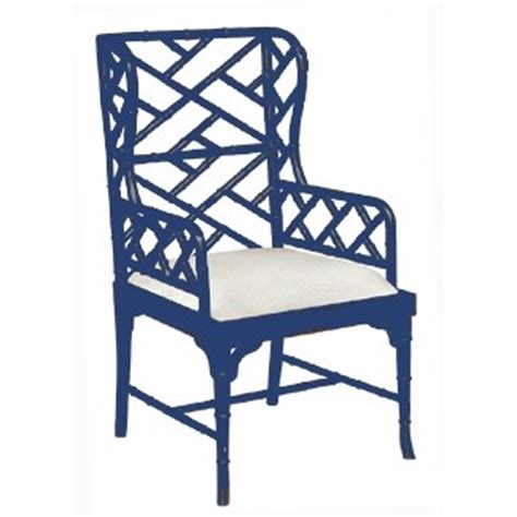 chinese chippendale wing chair custom color
