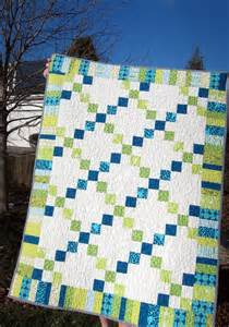 modern quilt child sized blue plus green equals turquoise