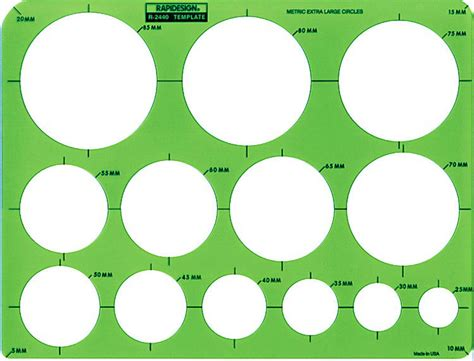 circle stencil template rapidesign r 2440 metric circle drawing drafting template