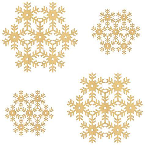 Fensterbilder Weihnachten Aus Holz by 4er Set Fensterbilder Schneeflocken Deko Aus Holz F 252 R