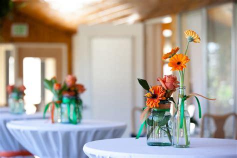 green and orange wedding ideas