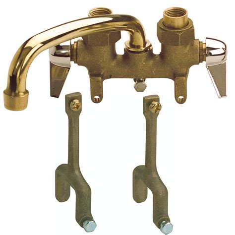 Lowes Utility Sink Faucet Shop Mueller Streamline Traditions Rough Brass 2 Handle