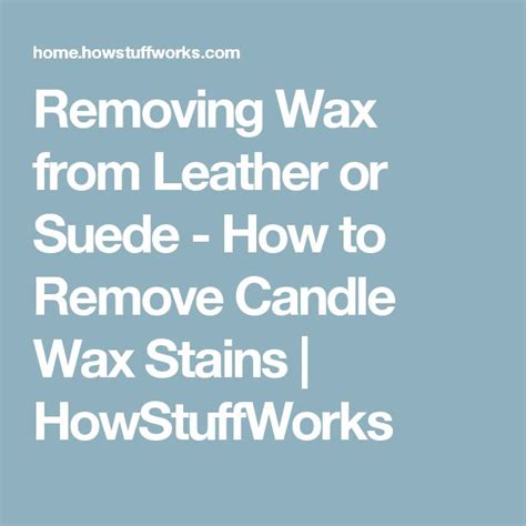 how to get candle wax off couch best 25 removing candle wax ideas on pinterest reuse