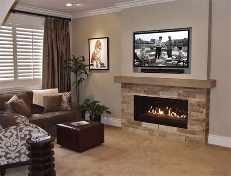 Tv Gas Fireplace Ideas by 17 Best Ideas About Tv Above Mantle On Corner