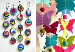 45 craft ideas for handmade garlands recycling felt pieces new year s home decoration ideas charming decoration