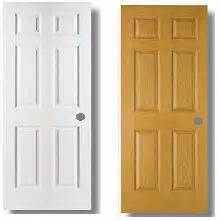 raised 6 panel interior door 24 x 78 white
