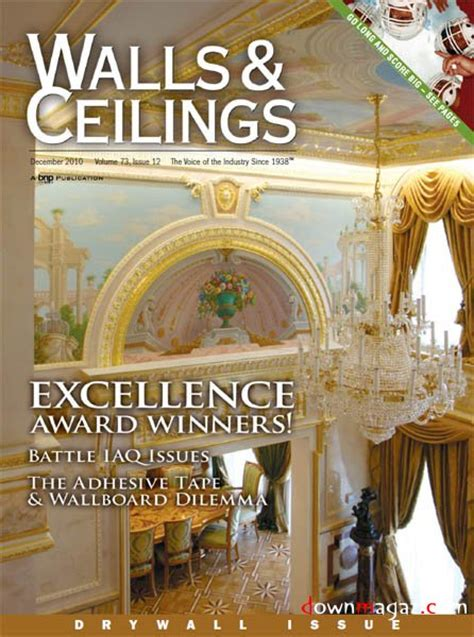 Walls And Ceiling Magazine by Walls Ceilings Magazine December 2010 187 Pdf