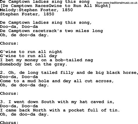 song to american song lyrics for de ctown sing