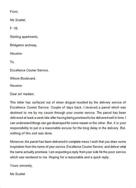 Complaint Letter Service Received A Letter Of Complaint Exle