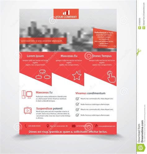 flyer template editor business flyer template stock vector image 47000935