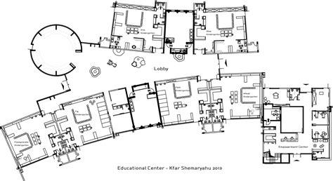 floor plan for kids kfar shemaryahu kindergarden sarit shani hay archdaily