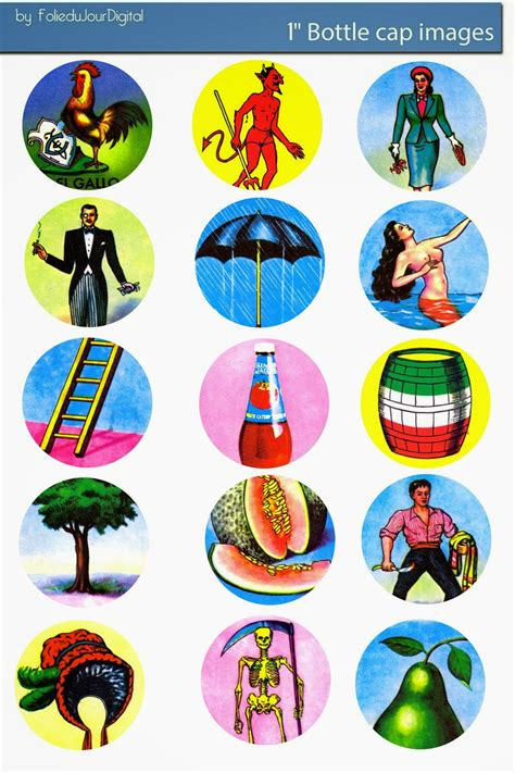 printable digital images free bottle cap images mexicana loteria bingo free