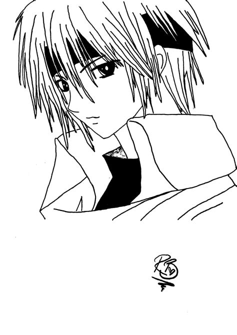 Anime Boy Coloring Pages Anime Boy By Rosiebucky On Deviantart by Anime Boy Coloring Pages