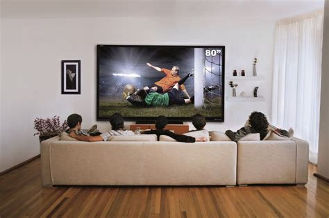 80 Inch Tv by 80 Inch Tv On Wall Sharp Home Theatre 80