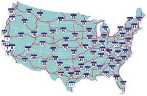 us map with major highways and cities burton allen s