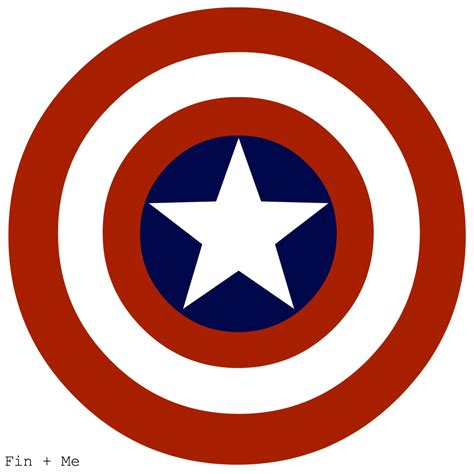 captain america shield print 8x10 or 8x8