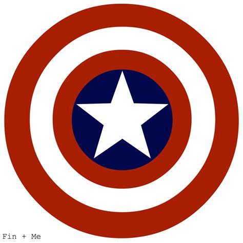 printable captain america star captain america shield print 8x10 or 8x8