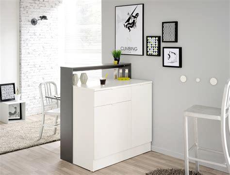 schreibtisch grau weiß wohnzimmer als bar einrichten