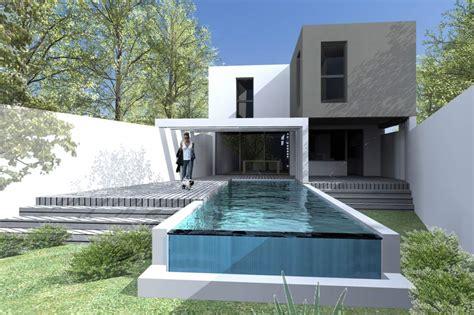 Façade Immeuble Moderne by Plan Maison Etroite Architecte Avie Home