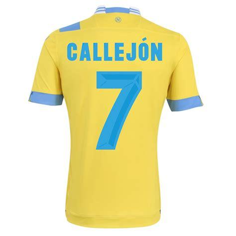 Napoli 13 14 Away 13 14 napoli 7 callejon away yellow jersey shirt napoli