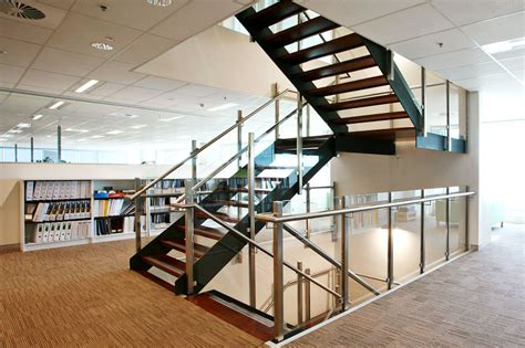 Modern Industrial Office office stairs gallery