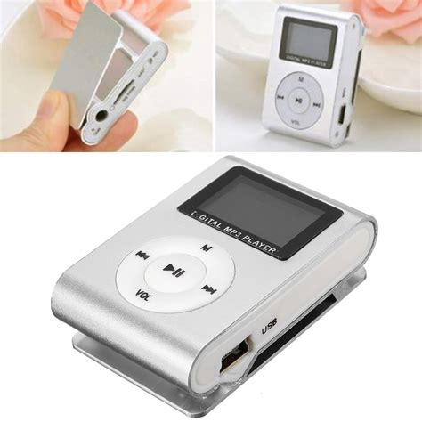 Mp3 Mini Plastics Clip Mp3 Player Tf Card Mp3 Jepit Shuffle mini mp3 player support 1 8g tf card clip rechargeable usb 2 0 ebay