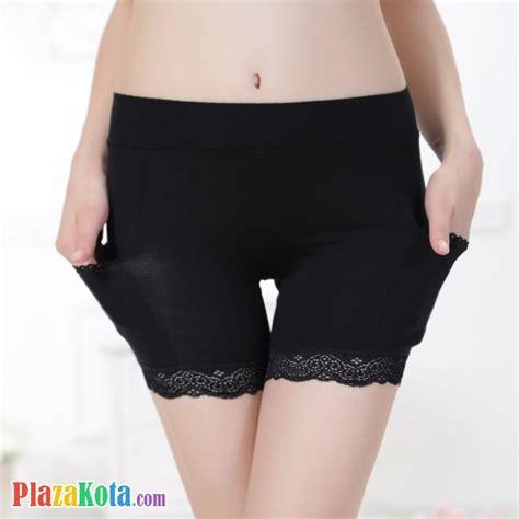 Salur Renda Satun Celana Pendek jual cl007 celana legging pendek hitam renda kantung plazakota