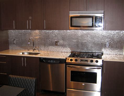 aluminum backsplash kitchen diy stainless steel kitchen makeovers on the cheap do it