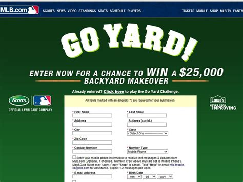 Yard Sweepstakes - the scotts go yard sweepstakes sweepstakes fanatics