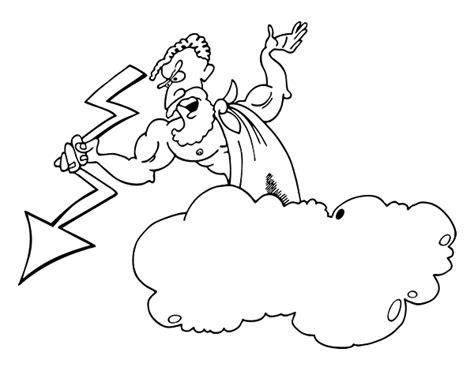 imagenes de dios zeus para dibujar disegno di zeus con un fulmine da colorare acolore com