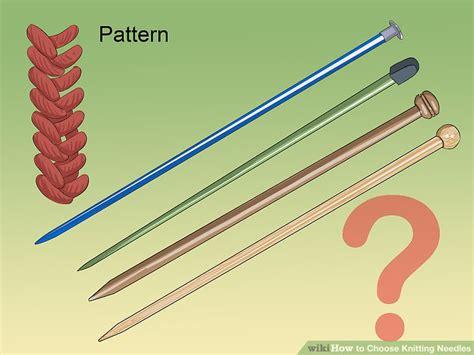 how do circular knitting needles work 3 ways to choose knitting needles wikihow