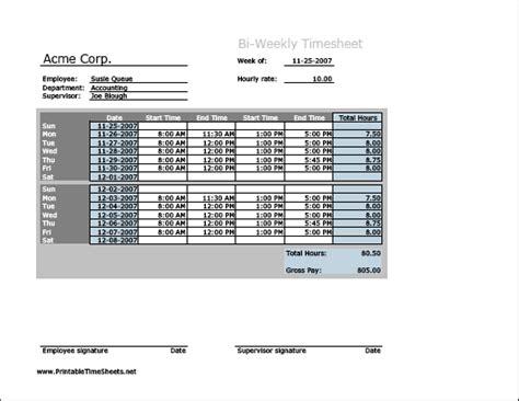 procedure sample biweekly timesheet sales report biweekly free bi