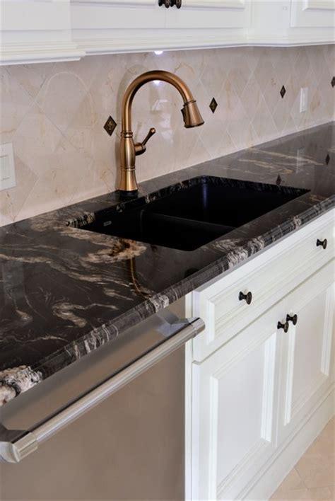 Over The Kitchen Sink Lighting titanium granite kichen traditional kitchen dallas
