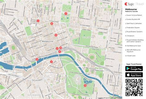 printable maps melbourne melbourne printable tourist map sygic travel