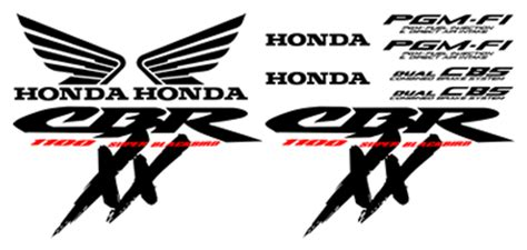 Honda Cbr 1100 Aufkleber by Graphics And Stickers Motorbike And Sportsbike Graphics