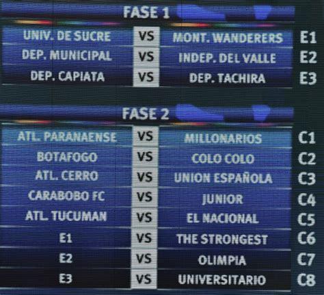 Calendario De La Copa Libertadores Calendario De Partidos De Equipos Chilenos En Copa