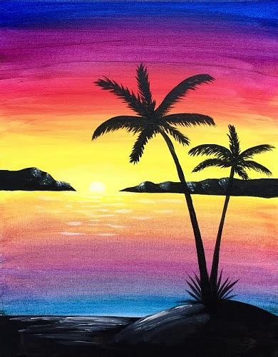 paint nite island pictures paint nite paradise island paintnite