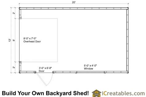door floor plan 12x20 garage shed plans icreatables com