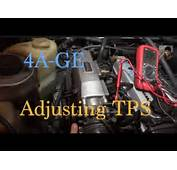 Toyota 4AGE  How To Adjust The TPS / Throttle Position