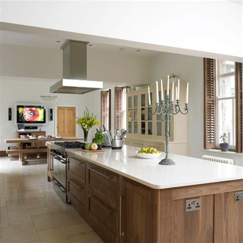 kitchen island take a tour of this glamorous walnut