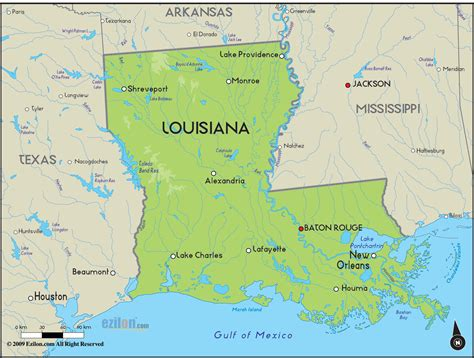 louisiana map geographical map of louisiana and louisiana geographical maps