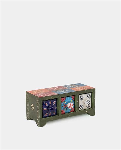 especiero en caja especiero de madera con 3 cajones de cer 225 mica