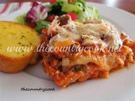 crock pot lasagna with cottage cheese the country cook crock pot lasagna