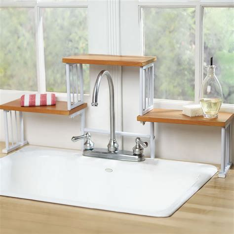 Kitchen Sink Storage The Sink Shelf Organizer Home Design Ideas