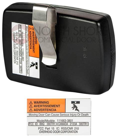 Overhead Garage Door Opener Remote Transmitter 380mhz Crusader Garage Door Opener