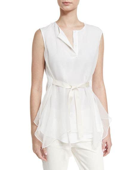 Tie Waist Blouse 8280 brunello cucinelli skirt jacket blouse