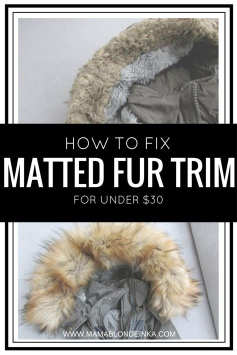 Fix Matted Hair by How To Fix Matted Fur Trim On A Winter Coat Damaged By
