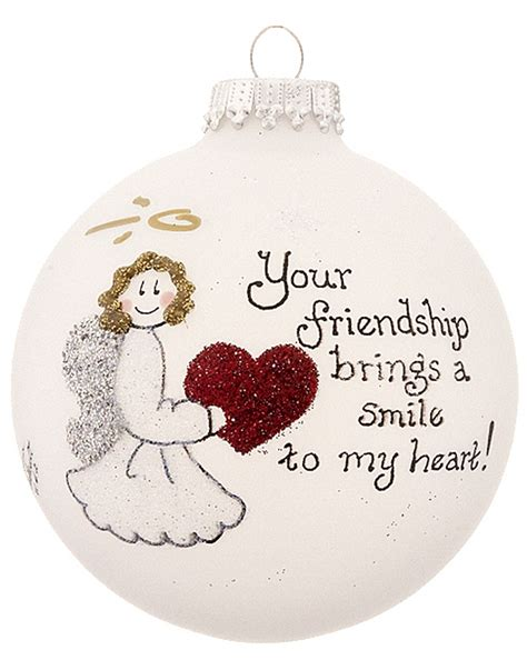 friendship heart christmas ornament his and hers