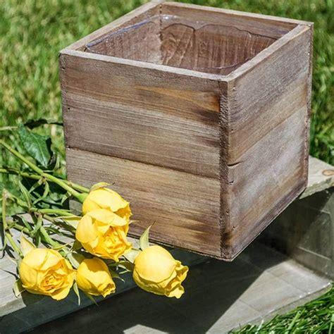 Rustic Wood Planter Box by Wholesale Box Now Available At Wholesale Central Items 1
