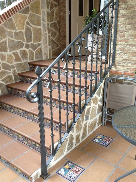 barandilla para escalera barandillas para escaleras de hierro y forja en madrid